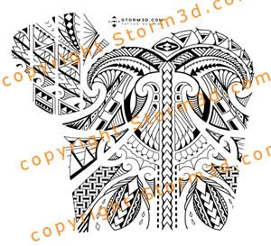 shoulder and chest tribal maori images designer
