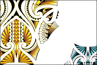 maori tattoo design printed canvas posters