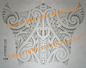 shin calf lower leg tribal maori tattoo designs
