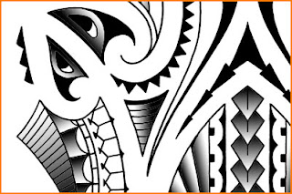 maori polynesian tribal tatoo designs