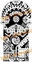 polynesian upper sleeve tattoos