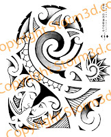 shoulder maori face tattoos