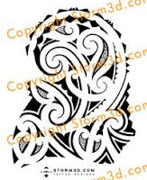 high res tatoo maori design for the shoulder