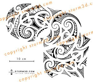 chest tattoo shoulder piece in maori style