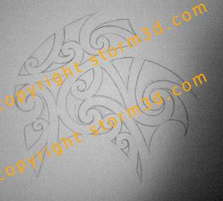 shoulder upper maori tattoo design lines