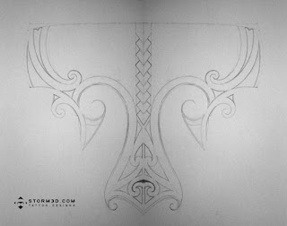 pencil sketch tattoo designer maori style