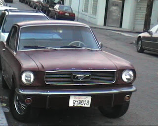 a Ford Mustang in Venice Beach, California