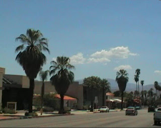 a street in Palm Springs