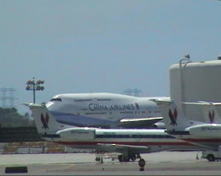 China Airlines on Los Angeles International Airport