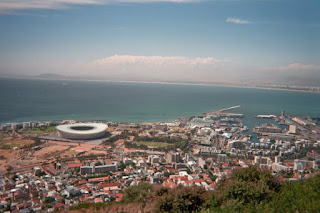 green point stadium cape town with wharf