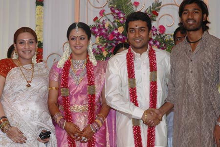 Dhanush And Aishwarya On Surya Jothika Marriage