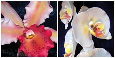 Orchideen aus Blütenpaste