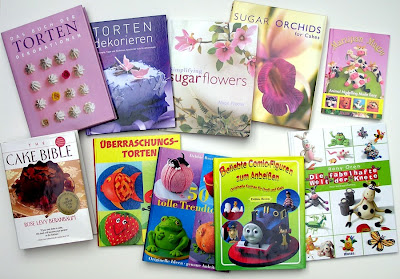 Bücher für Tortendekorationen