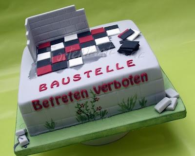 Baustellen Torte, Motivtorte construction site cake