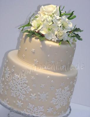 Winter Hochzeitstorte