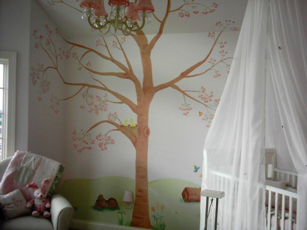 Boys room ideas boys room design july 2010 for Baby mural ideas