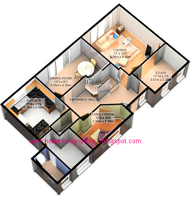 Western home decorating 3d home design plans House plan drawing 3d