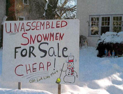 unassembled snow man