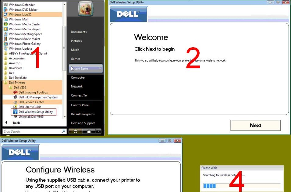 how to connect dell printer to wireless network
