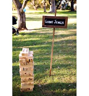 Giant Jenga Wedding
