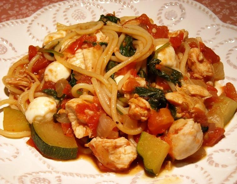 Diabetics Rejoice!: Chicken Caprese Pasta