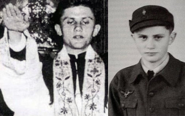 Foto del Papa Benedicto XVI cuando era Nazi