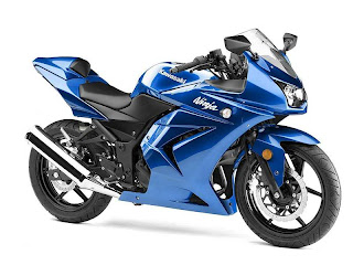 blue kawasaki ninja 250r