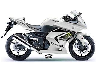 White Kawasaki Ninja 250r Motorcycles