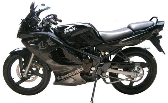 Black Kawasaki Ninja 150RR