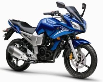 Blue yamaha fazer - yamaha motorcycles