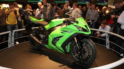 Kawasaki Ninja ZX10R at motorcycles show