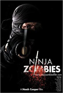 Verrückt ninjas und zombies in einem film