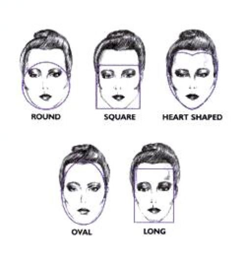 that look best on round, oval, square, long, and heart shaped faces.