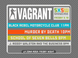 Vagrant Records 2010 SXSW Showcase Features Murder By Death, School of Seven Bells and more