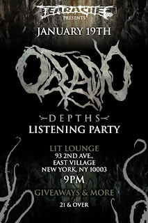 Earache Records Hosting Oceano Listening Party at Lit Lounge on Jan. 19th