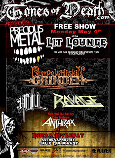 Rumpelstiltskin Grinder, Hull and Ravage Play Free Show at Lit Lounge on May 4th