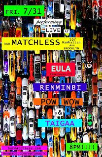 Art-Punk Band Eula is Playing Bar Matchless Tomorrow Night, July 31st