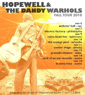 Hopewell Play Union Pool on Oct. 22nd // Nov. Tour with The Dandy Warhols // Live Album Out Nov. 2nd