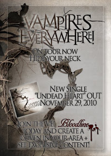 Vampires Everywhere Release New Single as Free Download // Show at Gramercy Theater with the Murder Dolls on Dec. 6th