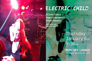 Alison Clancy & Electric Child are Playing Mercury Lounge on Jan. 6th