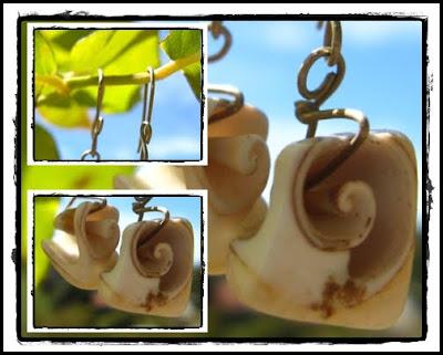 bisuteria espirales de conchitas