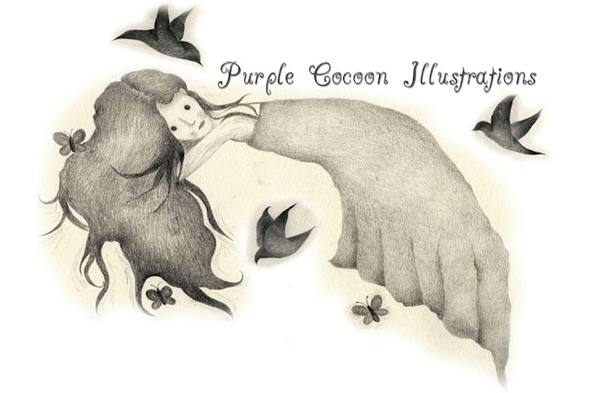 Purple Cocoon Illustrations
