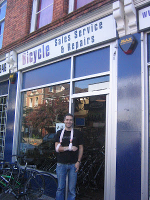 Robby Golbin of Psyclewerx in Bristol. Photo from the Bristol Traffic blog
