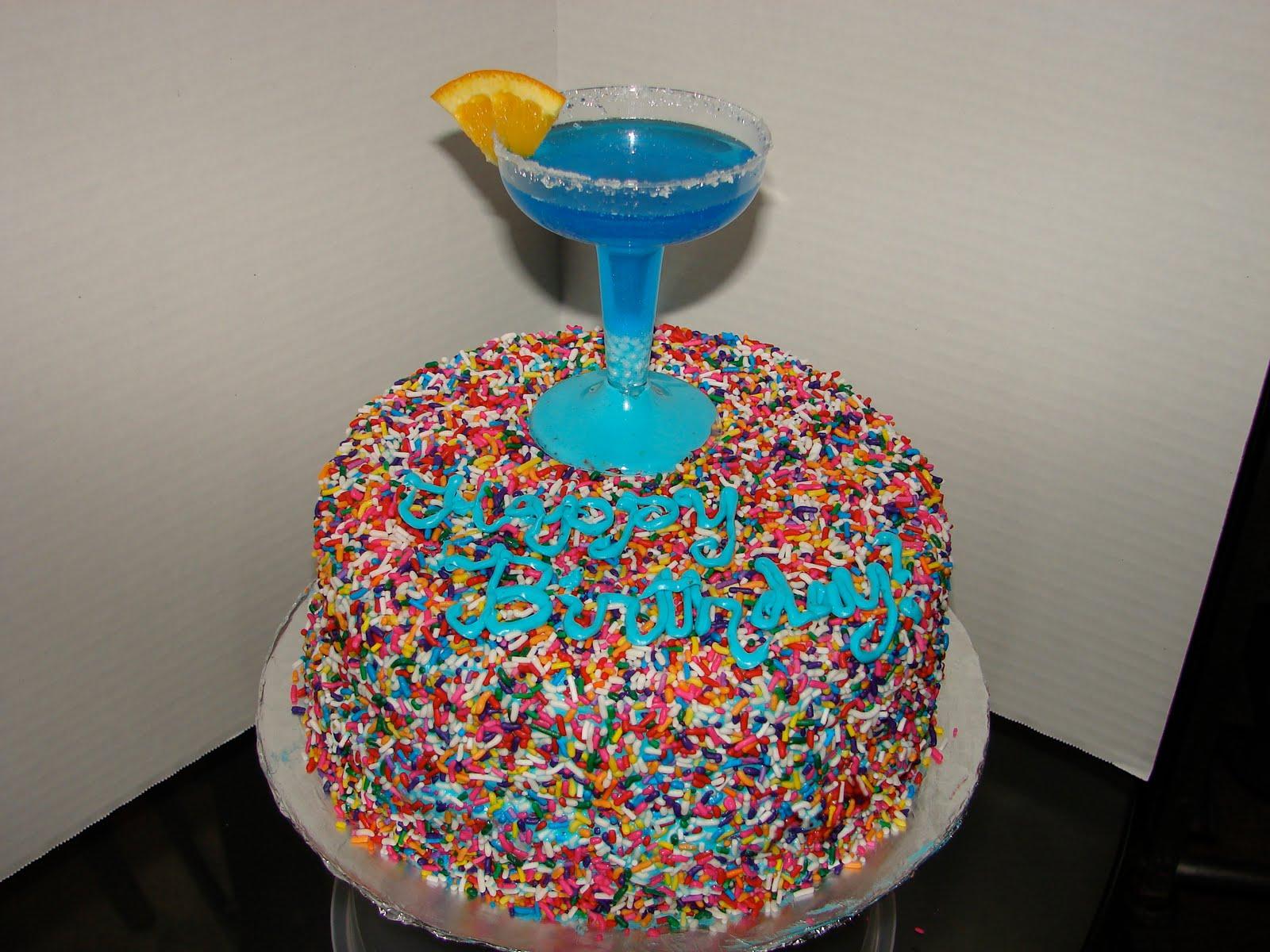 Sarahs Sweet Treats Blue Margarita Birthday Cake