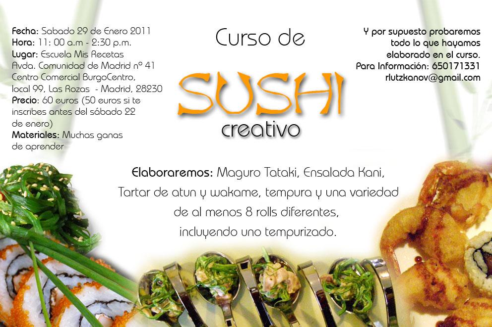 Cursos De Cocina Gratis En Madrid | Mi Dulce Dani Ii Curso De Sushi Creativo En Madrid