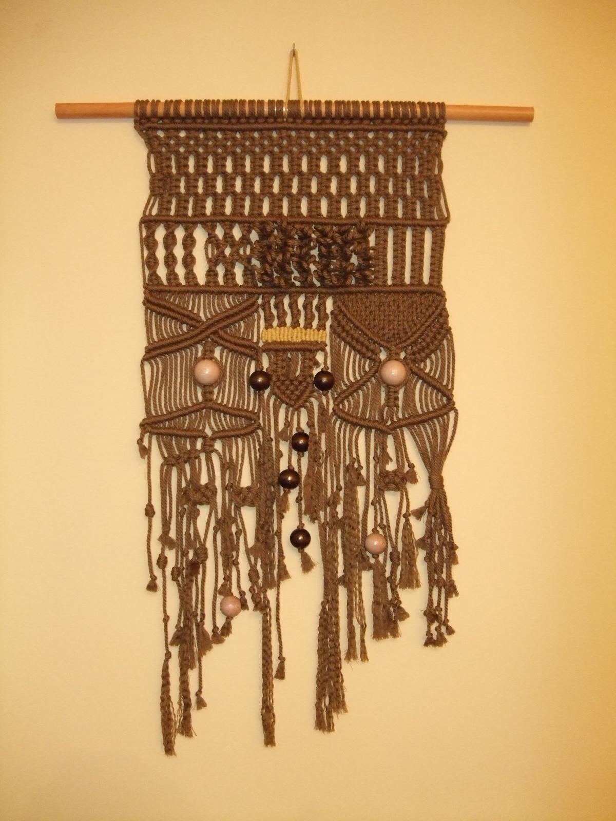 Nire eskuekin makramez eginiko tapiza tapiz hecho en - Tapices de macrame ...