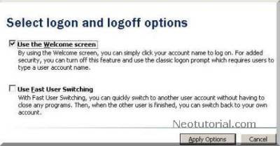 user account setting
