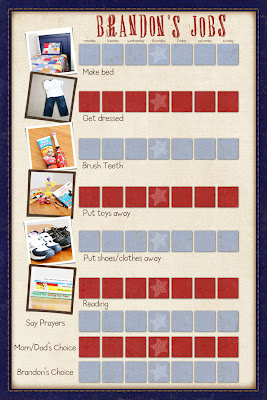 Job and Chore Chart with free printable template