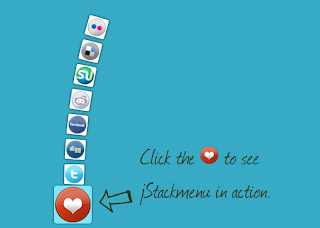 Stacked Social sharing buttons with jstackmenu
