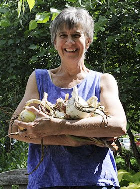 Leslie with her onions